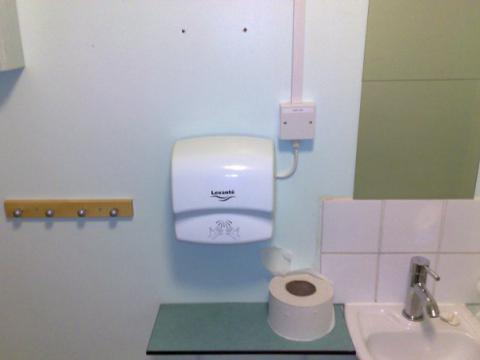 Electrical hand dryer installation